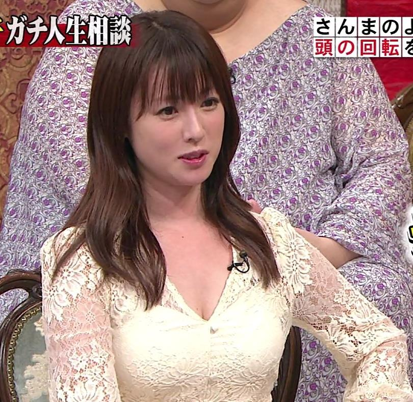 深田恭子 胸の谷間見せムチムチ衣装キャプ・エロ画像9