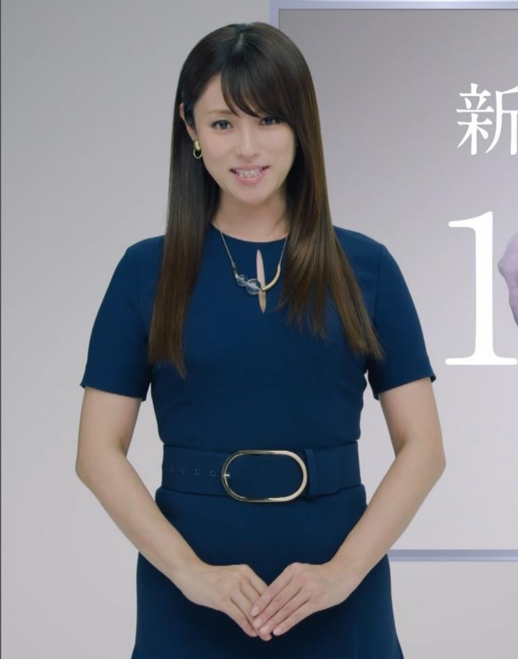 深田恭子 BS4K8Kの宣伝の衣装は体のラインがクッキリでてエロ過ぎキャプ・エロ画像12