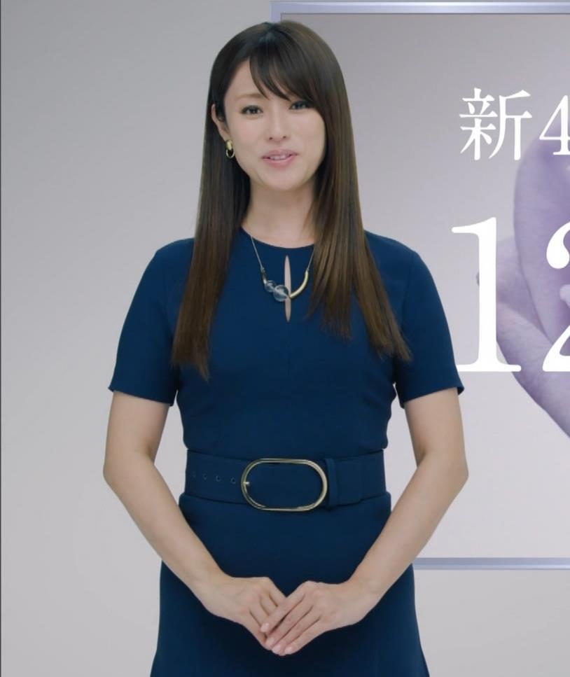 深田恭子 BS4K8Kの宣伝の衣装は体のラインがクッキリでてエロ過ぎキャプ・エロ画像13