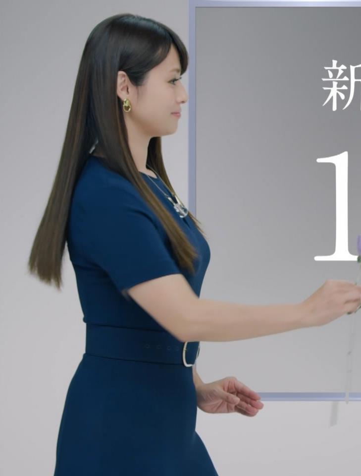 深田恭子 BS4K8Kの宣伝の衣装は体のラインがクッキリでてエロ過ぎキャプ・エロ画像6