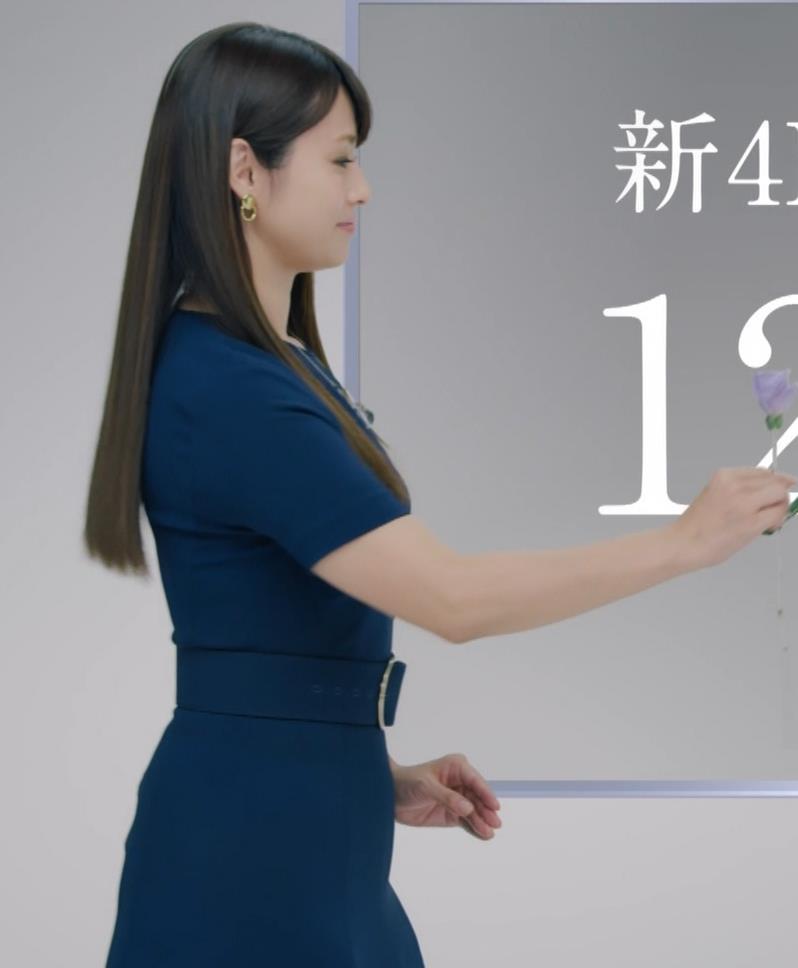 深田恭子 BS4K8Kの宣伝の衣装は体のラインがクッキリでてエロ過ぎキャプ・エロ画像7