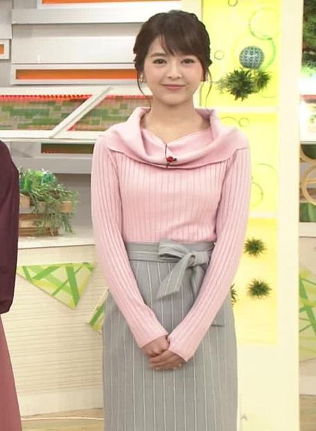 福田成美 ニットおっぱい♡「グッドモーニング」キャプ・エロ画像2