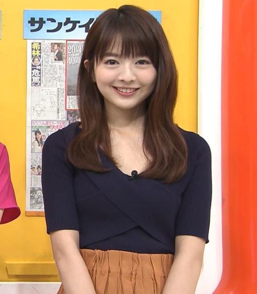 福田成美 お辞儀でちょっと胸チラキャプ・エロ画像3