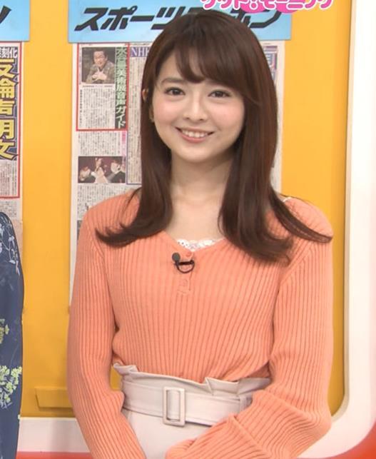 福田成美アナ 胸元がなんかエロいニットキャプ・エロ画像6