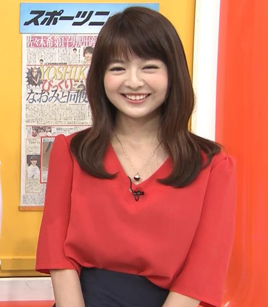 福田成美 お辞儀でいつも胸元チラチラしてるキャプ・エロ画像4