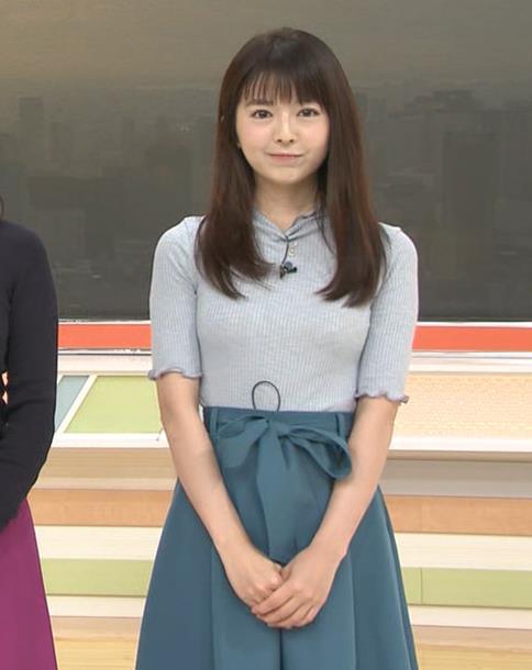 福田成美アナ エロいニットおっぱい♡キャプ・エロ画像