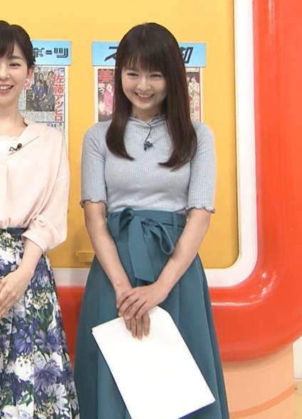 福田成美アナ エロいニットおっぱい♡キャプ・エロ画像4