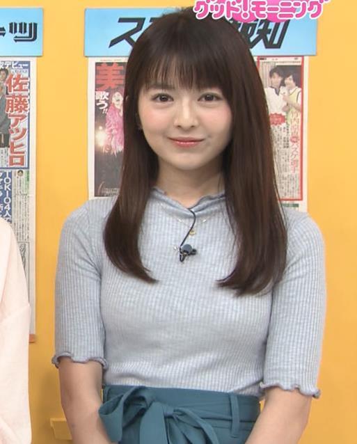 福田成美アナ エロいニットおっぱい♡キャプ・エロ画像5