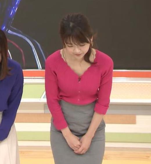 福田成美 セクシーニットおっぱいキャプ画像(エロ・アイコラ画像)