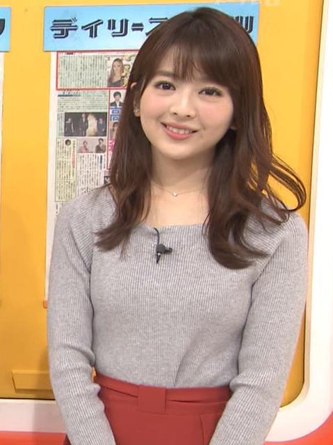 福田成美アナ 朝からエロかわいいニットおっぱいキャプ・エロ画像