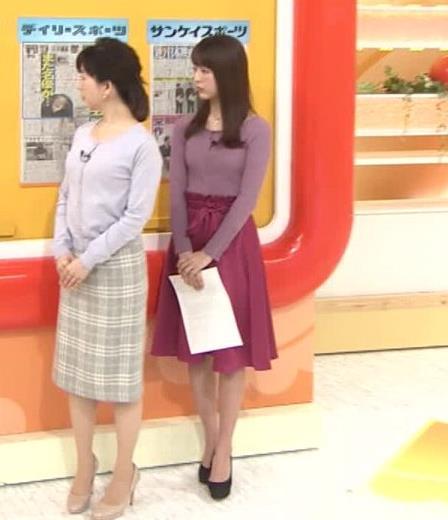 福田成美アナ 朝からエロかわいいニットおっぱいキャプ・エロ画像4
