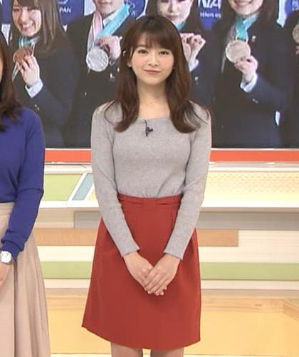 福田成美アナ 朝からエロかわいいニットおっぱいキャプ・エロ画像5