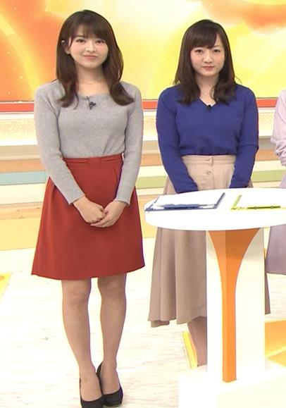 福田成美アナ 朝からエロかわいいニットおっぱいキャプ・エロ画像6