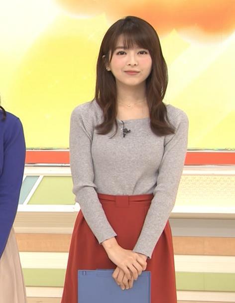 福田成美アナ 朝からエロかわいいニットおっぱいキャプ・エロ画像7