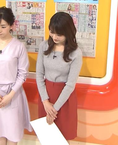 福田成美アナ 朝からエロかわいいニットおっぱいキャプ・エロ画像8