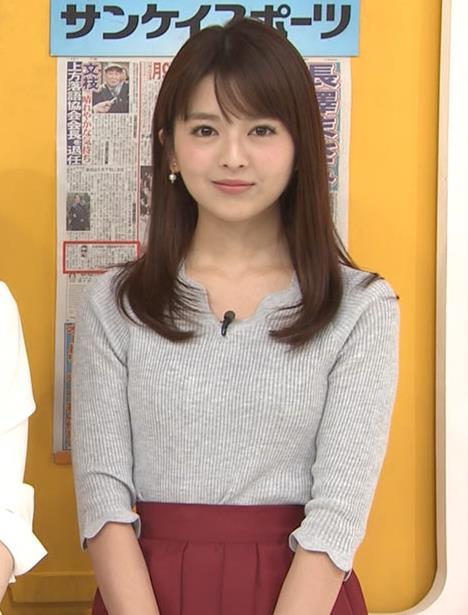 福田成美アナ 柔らかそうなニットおっぱい♡キャプ・エロ画像3