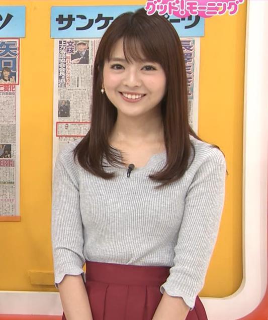 福田成美アナ 柔らかそうなニットおっぱい♡キャプ・エロ画像5