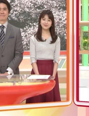福田成美アナ 柔らかそうなニットおっぱい♡キャプ・エロ画像6