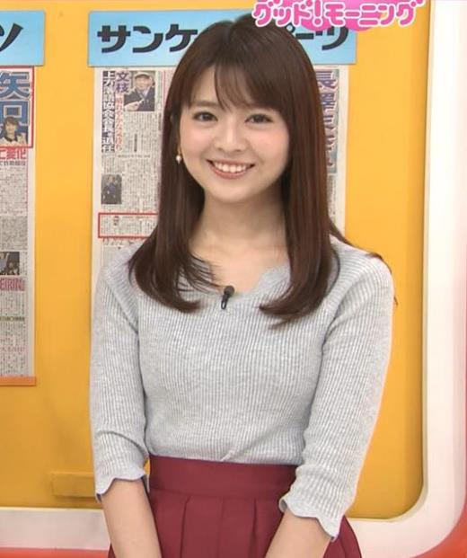 福田成美アナ 柔らかそうなニットおっぱい♡キャプ画像(エロ・アイコラ画像)