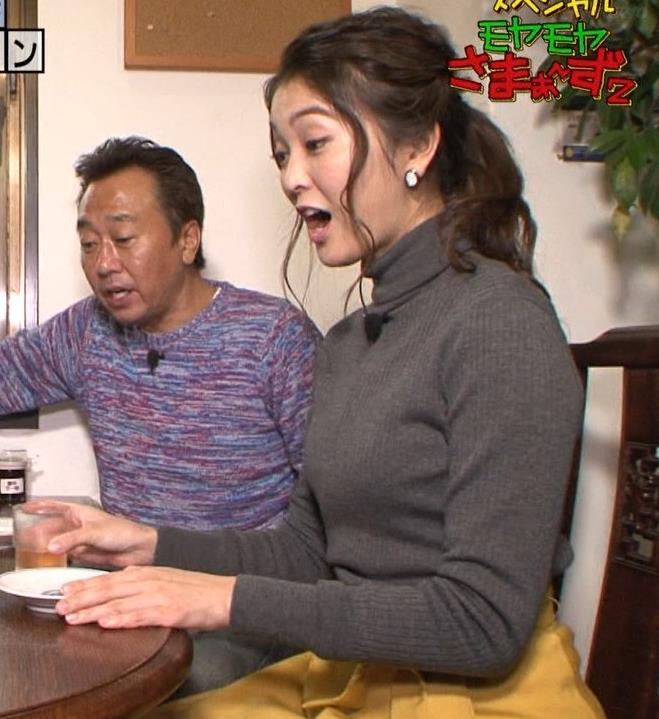 福田典子アナ 「モヤさま」でニットおっぱい♡キャプ・エロ画像8