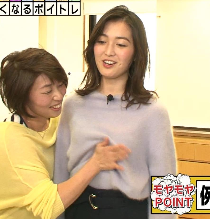 福田典子アナ 胸を触られまくるキャプ・エロ画像