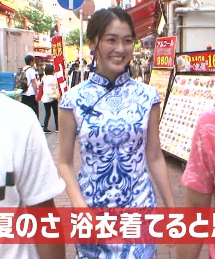 福田典子アナ 激エロ!チャイナドレス!脚&おっぱい!!キャプ・エロ画像17
