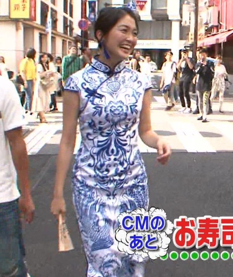 福田典子アナ 激エロ!チャイナドレス!脚&おっぱい!!キャプ・エロ画像20