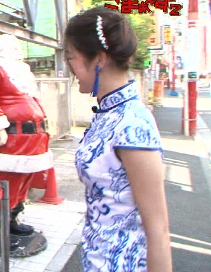 福田典子アナ 激エロ!チャイナドレス!脚&おっぱい!!キャプ・エロ画像21