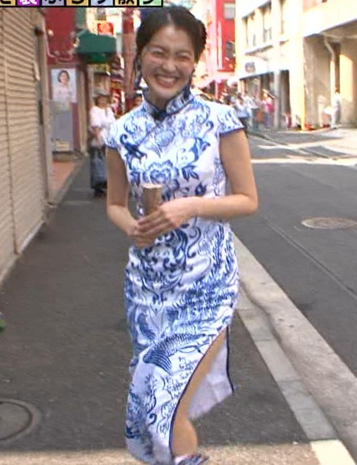 福田典子アナ 激エロ!チャイナドレス!脚&おっぱい!!キャプ・エロ画像25