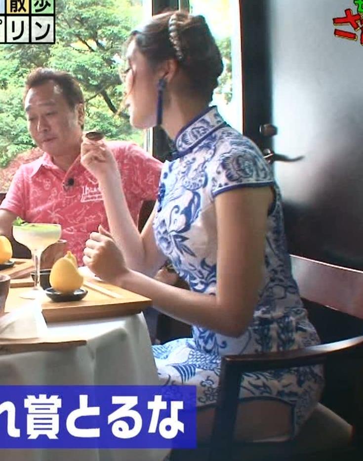 福田典子アナ 激エロ!チャイナドレス!脚&おっぱい!!キャプ・エロ画像30