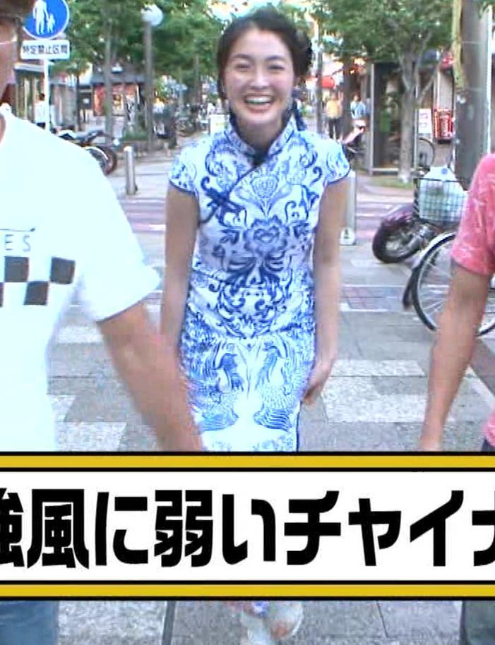 福田典子アナ 激エロ!チャイナドレス!脚&おっぱい!!キャプ・エロ画像32