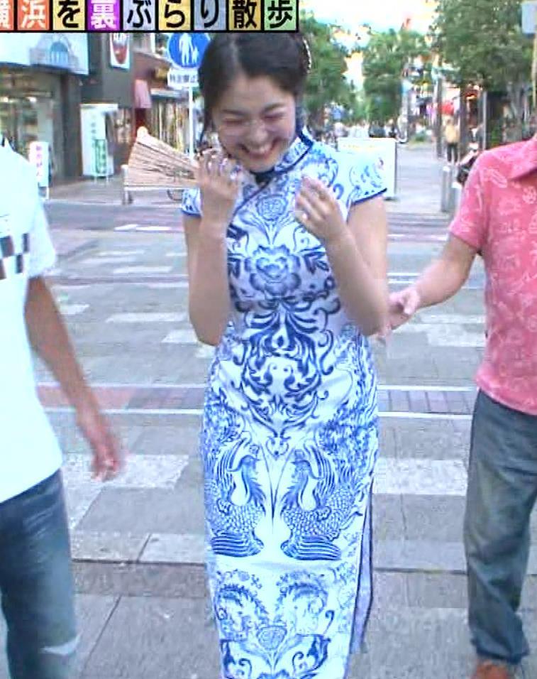 福田典子アナ 激エロ!チャイナドレス!脚&おっぱい!!キャプ・エロ画像33