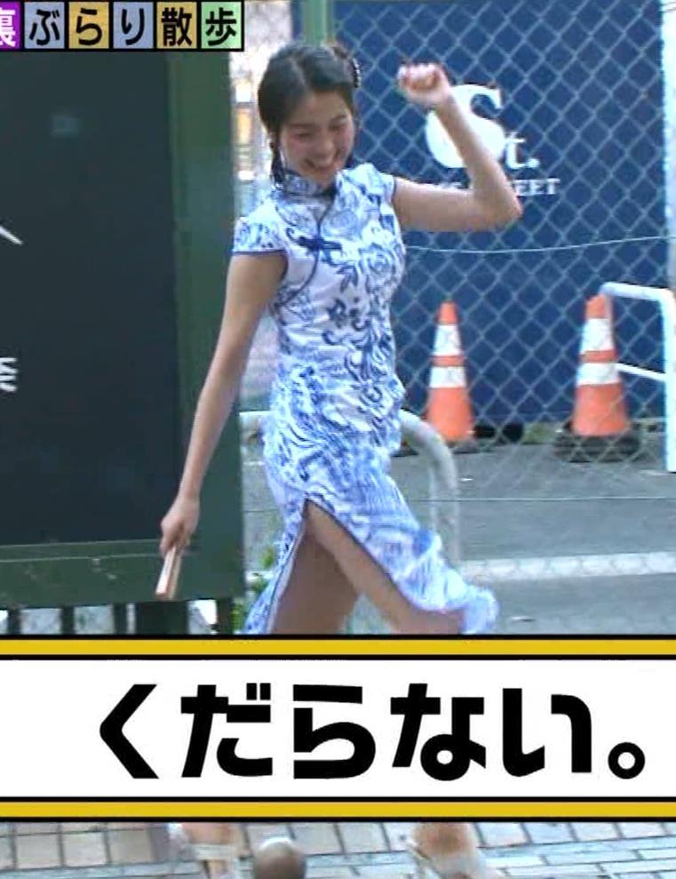 福田典子アナ 激エロ!チャイナドレス!脚&おっぱい!!キャプ・エロ画像39