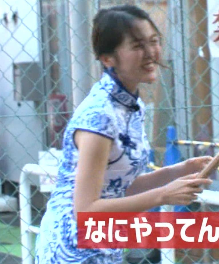 福田典子アナ 激エロ!チャイナドレス!脚&おっぱい!!キャプ・エロ画像40