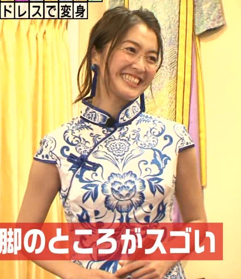 福田典子アナ 激エロ!チャイナドレス!脚&おっぱい!!キャプ・エロ画像5