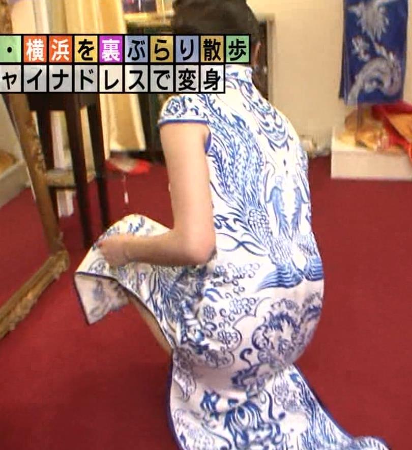 福田典子アナ 激エロ!チャイナドレス!脚&おっぱい!!キャプ・エロ画像9