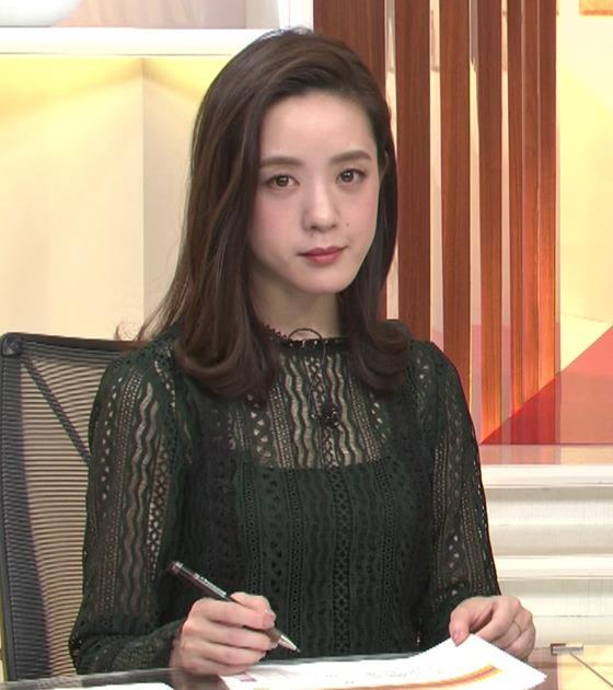 古谷有美アナ レースの透け衣装キャプ・エロ画像3