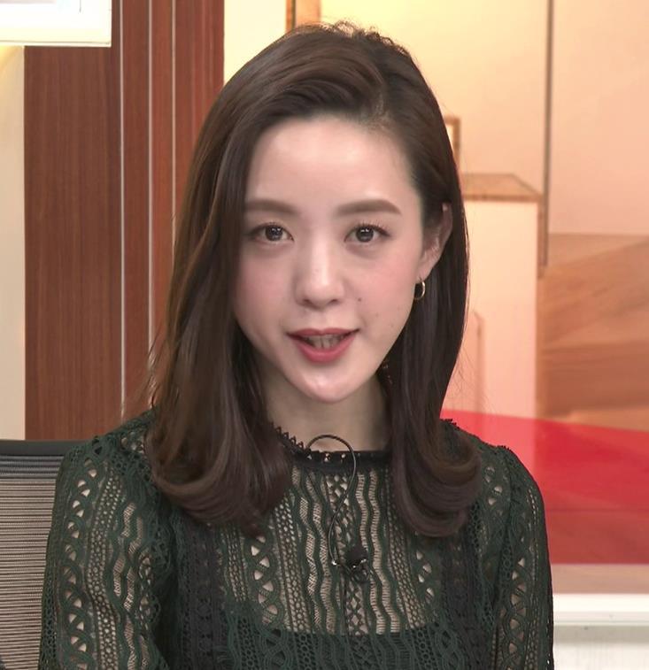 古谷有美アナ レースの透け衣装キャプ・エロ画像4