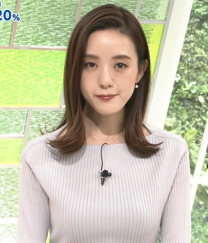 古谷有美アナ ばっちりメイク&ニット乳キャプ・エロ画像3