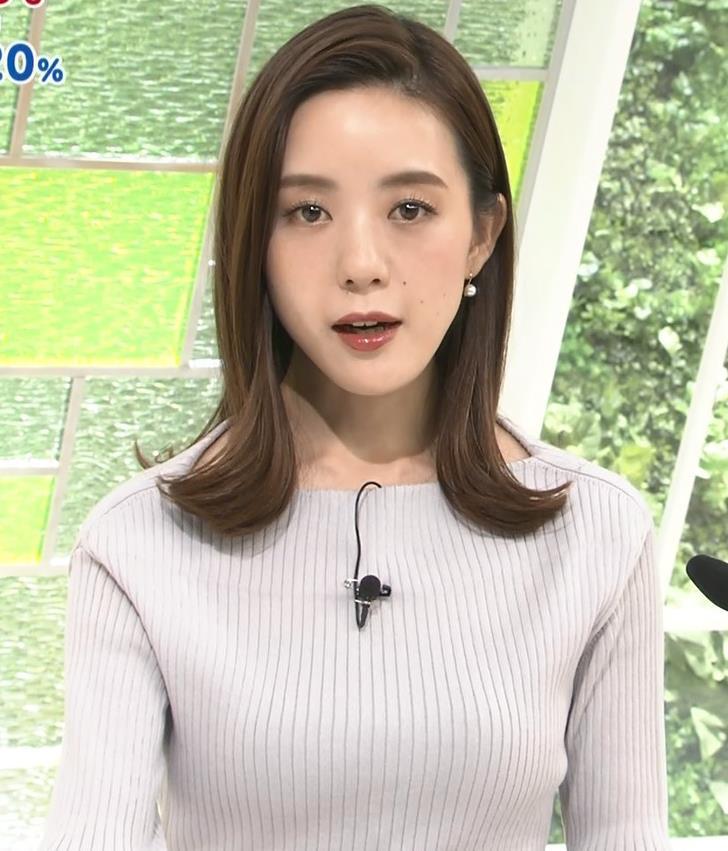 古谷有美アナ ばっちりメイク&ニット乳キャプ・エロ画像4