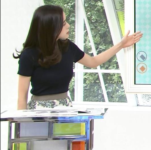 古谷有美アナ くびれ&ニット乳がエロ過ぎるキャプ・エロ画像