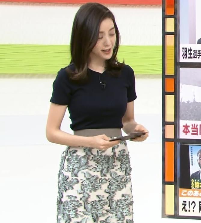 古谷有美アナ くびれ&ニット乳がエロ過ぎるキャプ・エロ画像4