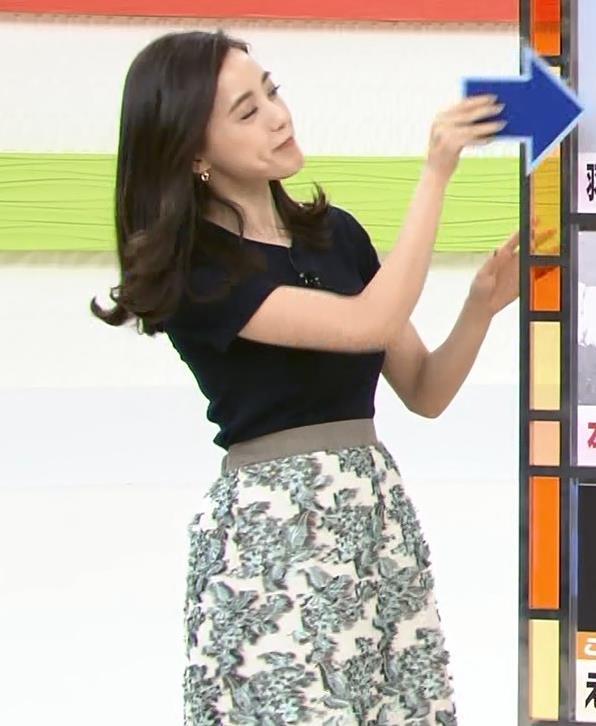 古谷有美アナ くびれ&ニット乳がエロ過ぎるキャプ・エロ画像5