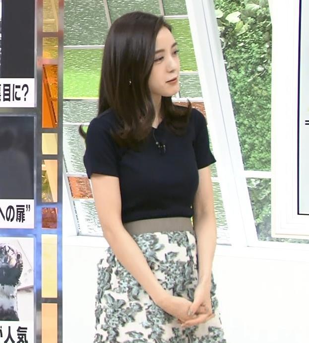 古谷有美アナ くびれ&ニット乳がエロ過ぎるキャプ・エロ画像6
