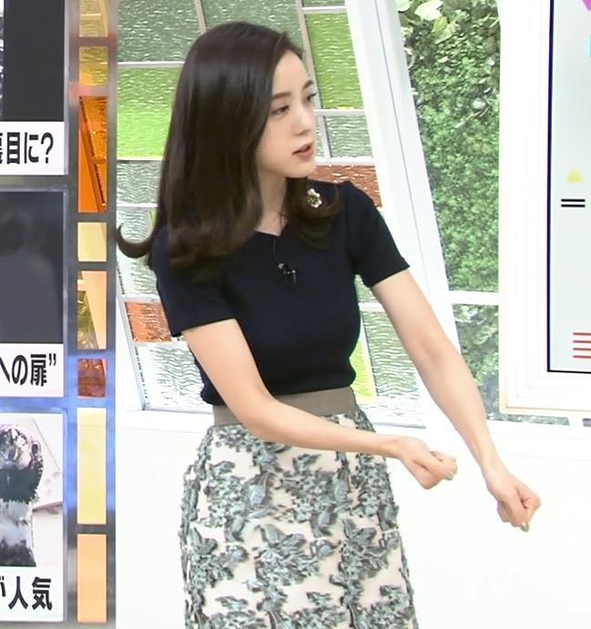古谷有美アナ くびれ&ニット乳がエロ過ぎるキャプ・エロ画像7