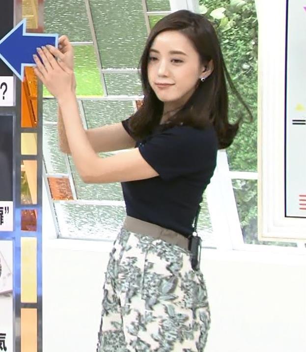 古谷有美アナ くびれ&ニット乳がエロ過ぎるキャプ・エロ画像8
