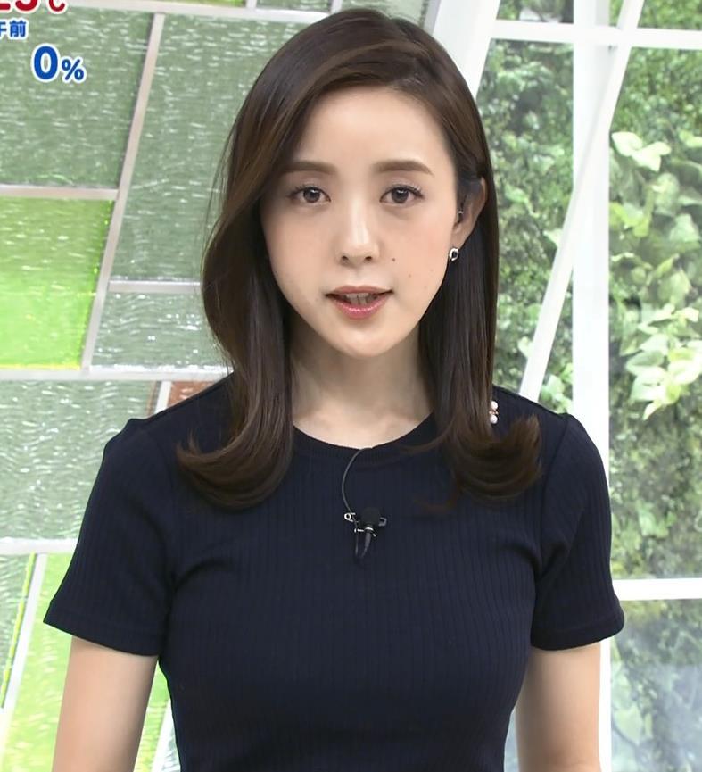 古谷有美アナ くびれ&ニット乳がエロ過ぎるキャプ・エロ画像10
