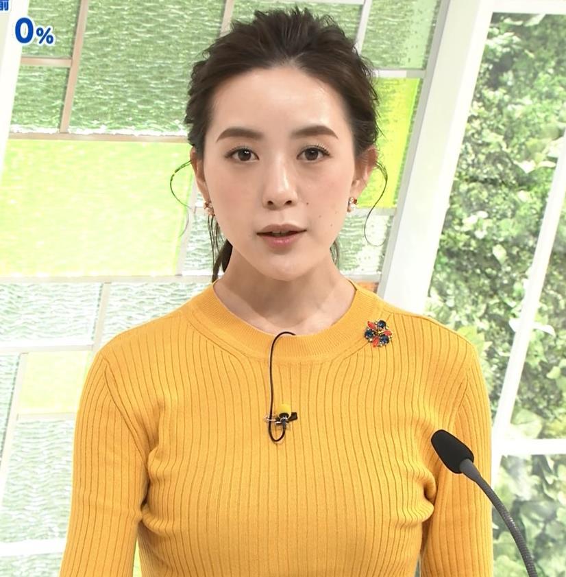 古谷有美アナ ピチピチのニットおっぱいキャプ・エロ画像2