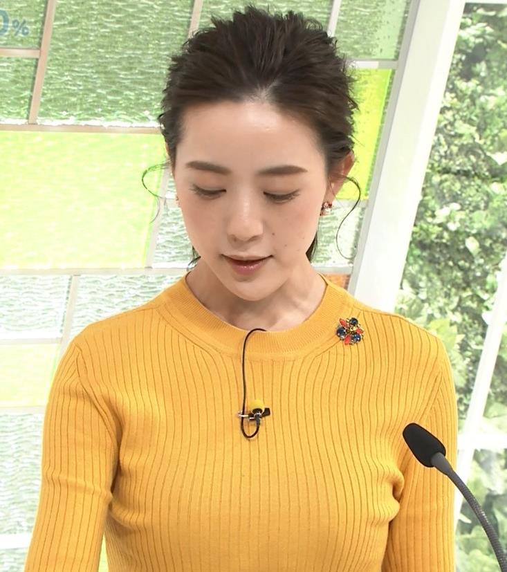 古谷有美アナ ピチピチのニットおっぱいキャプ・エロ画像3