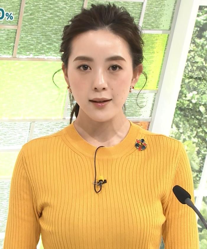 古谷有美アナ ピチピチのニットおっぱいキャプ・エロ画像4
